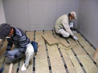 防音下地材「音パット」/床施工写真